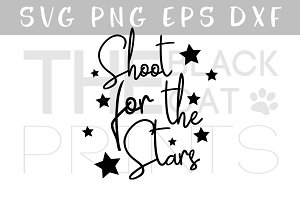 Shoot for the stars SVG PNG EPS DXF
