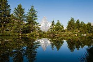 Matterhorn mountain is Swiss Alps