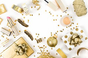 Golden gifts and cosmetics