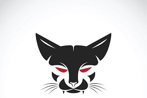 Vector of a cat face design. Pet
