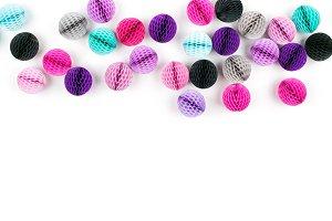 Colorful Honeycomb balls border