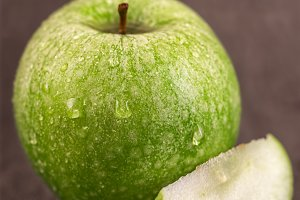Juicy fresh green apple