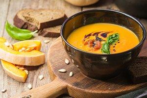 Pumpkin and carrot soup