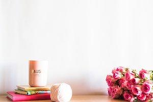 Pink Roses Scene