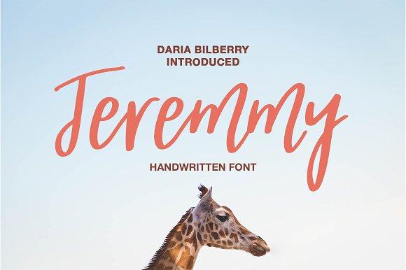 Jeremmy Handwritten Font