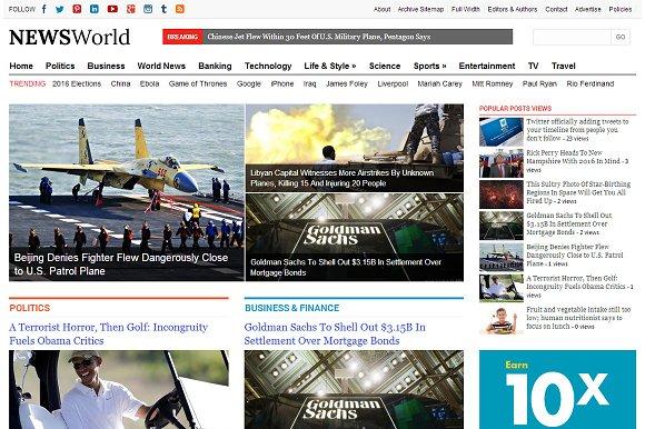 NewsWorld - News & Magazine Theme