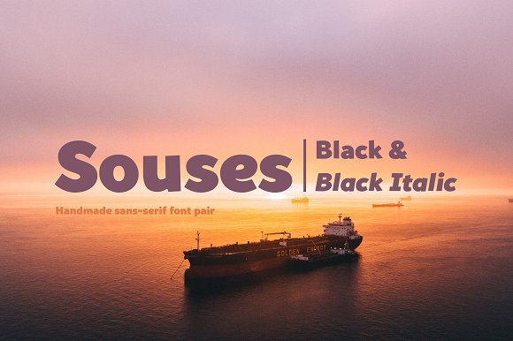 Souses-Black Black Italic