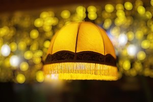 Cafe lampshade bokeh background