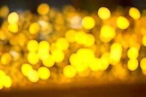 Yellow spot bokeh background