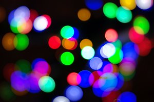 Diagonal color blobs bokeh background