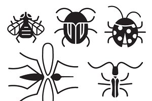 Bugs | Vector Insect Icons