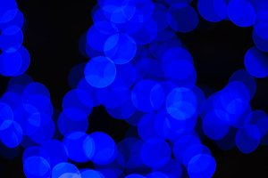 Chaotic blue blobs bokeh background