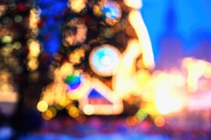 Moscow Christmas tree decoration bokeh
