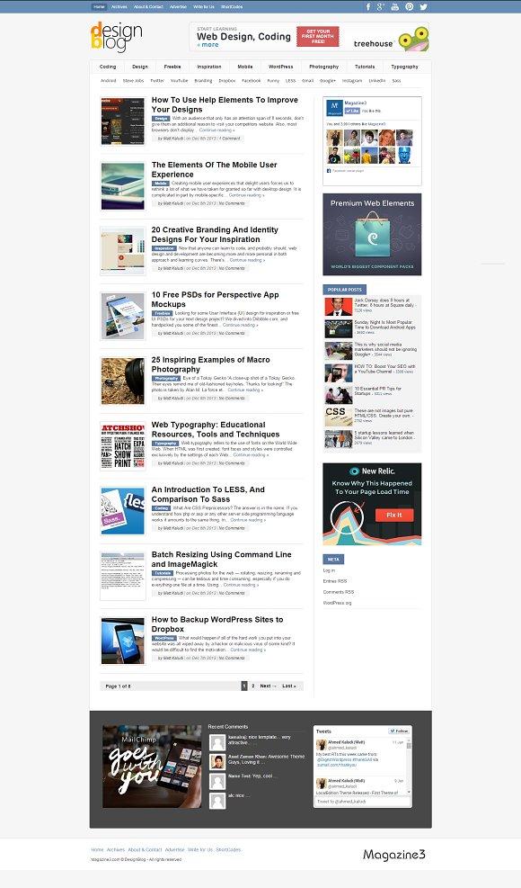 DesignBlog for Design & Development in WordPress Blog Themes