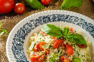 Couscous with pesto