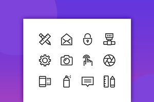 Design & Creativity Line icons