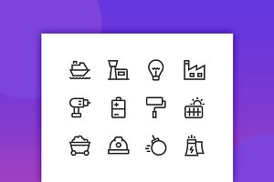 Development & Production Line Icons