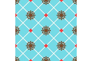 Blue spanish ornamental ceramic tile