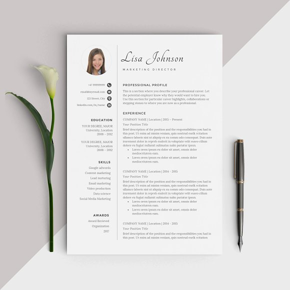 resume rn word resume template cv resume templates creative market management skills on resume pdf with