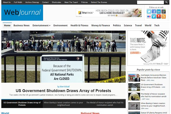 WebJournal News Magazine Theme