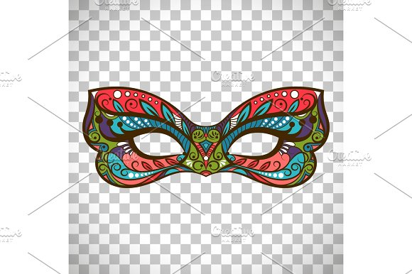 Colored Mask In Butterfly Colors