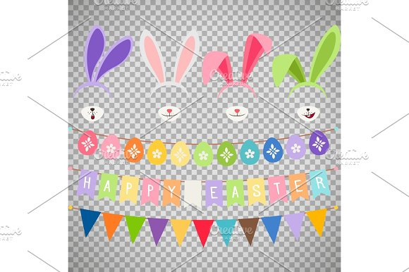 Easter Party Decoration Elements
