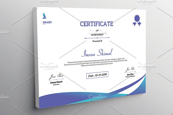 Certificate Template V03