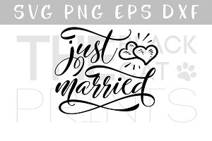 Just married SVG PNG EPS DXF