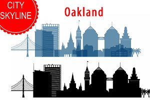 Oakland Skyline Vector, Ai, Svg, Eps