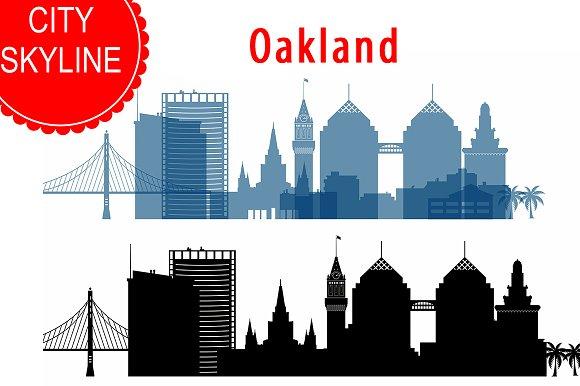 Oakland Skyline Vector Ai Svg Eps