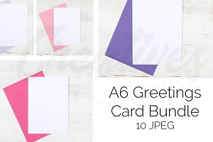 A6 Card Bundle STOCK - 10 JPEG/PSD
