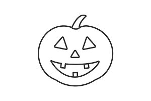 Halloween pumpkin linear icon