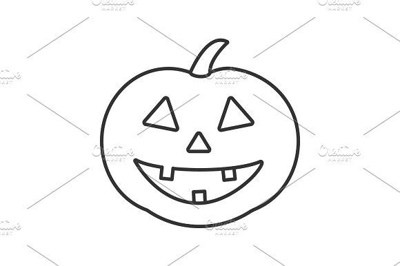 Halloween Pumpkin Linear Icon
