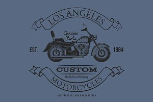 Motorcycle vintage graphics, t-shirt