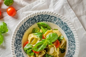 Tortellini stuffed with meat