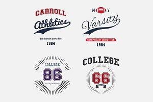 Varsity College Print T-shirt