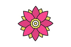 Lotus flower color icon