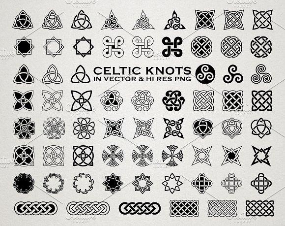 Celtic Knots Ornaments Vector Pack