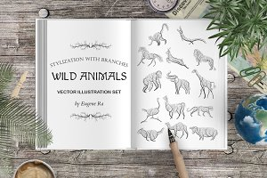 Stylized wild animals