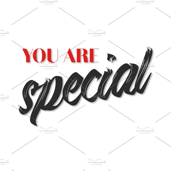 You Are Special Quote Poster