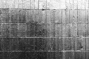 Horizontal black and white tile texture background