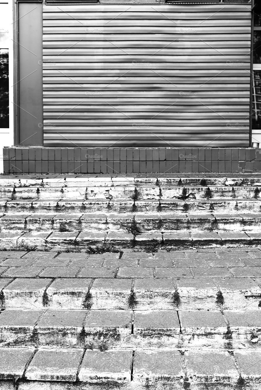 Horizontal Black And White City Stairs Background Architecture