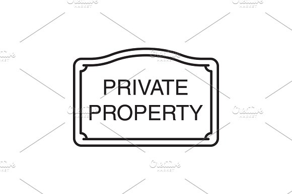 Real Property Sign Linear Icon