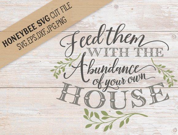 Feed Them With Abundance Cut File