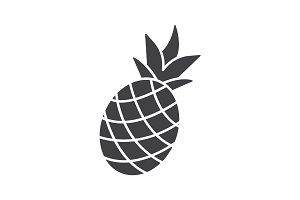 Pineapple glyph icon