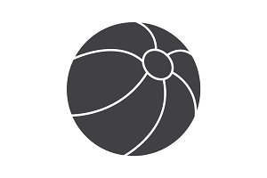 Beach ball glyph icon