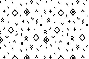 Ethnic abstract geometric pattern