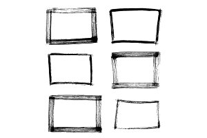 Frame Hand Drawn Set Isolated