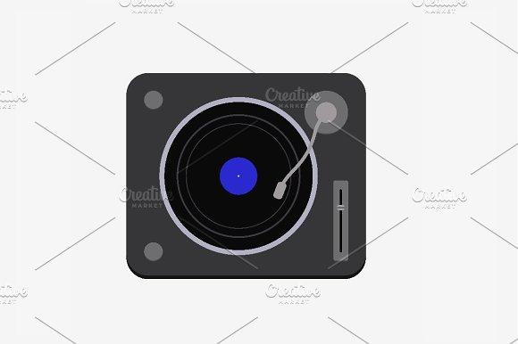 DJ Console Vector Illustration