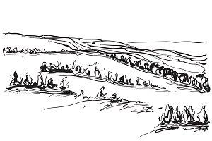 Landscape sketch.